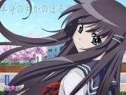 Hanbun no Tsuki ga Noboru Sora Wallpaper